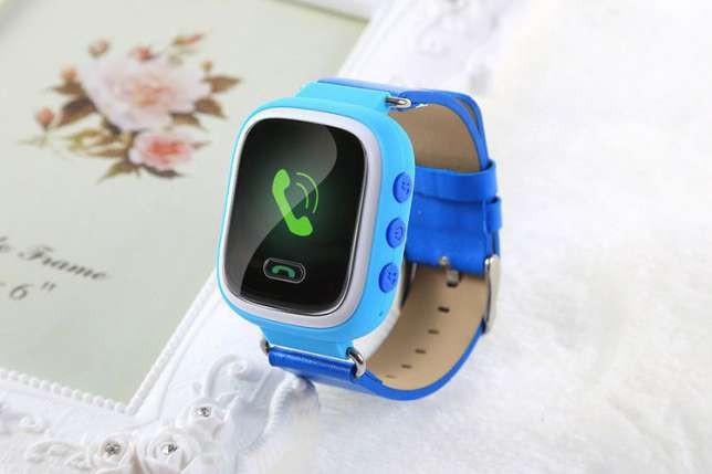 """Детские умные GPS часы Smart Baby Watch Q100 с трекером отслеживания цветной сенсорный экран WiFi  1"""" (синие) - Интернет-магазин """"SunKi"""" в Киеве"""