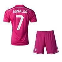 Футбольная форма Реал Мадрид Роналдо (Ronaldo) 2014-2015 выездная (малиновая)