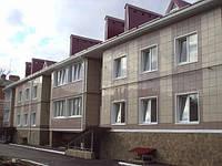 Вентилируемый фасад из алюминиевых панелей (монтаж)