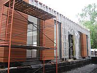 Вентилируемый фасад здания керамогранитом (монтаж)