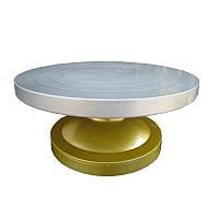 Подставка для торта из усиленного пластика ( железная тарелка) d 30 см h15 см