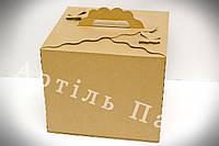 """Коробка для торту """"Метелик"""" бура 300*300*250 Коробка для торта"""