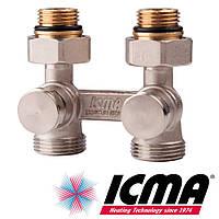 Icma 897 узел нижнего подключения 1/2х3/4 прямой двухтрубный