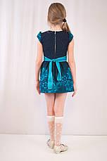 Красивое нарядное платье и болеро с модным принтом и стразиками., фото 3