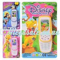 Детский интерактивный телефон Disney 6300: 3 вида, свет/звук