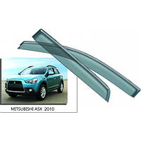 Дефлекторы окон (ветровики) оригинал на Мицубиси ASX с 2010> (Китай).