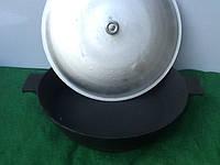 Жаровня чугунная 400х 90мм с алюминиевой крышкой, фото 1