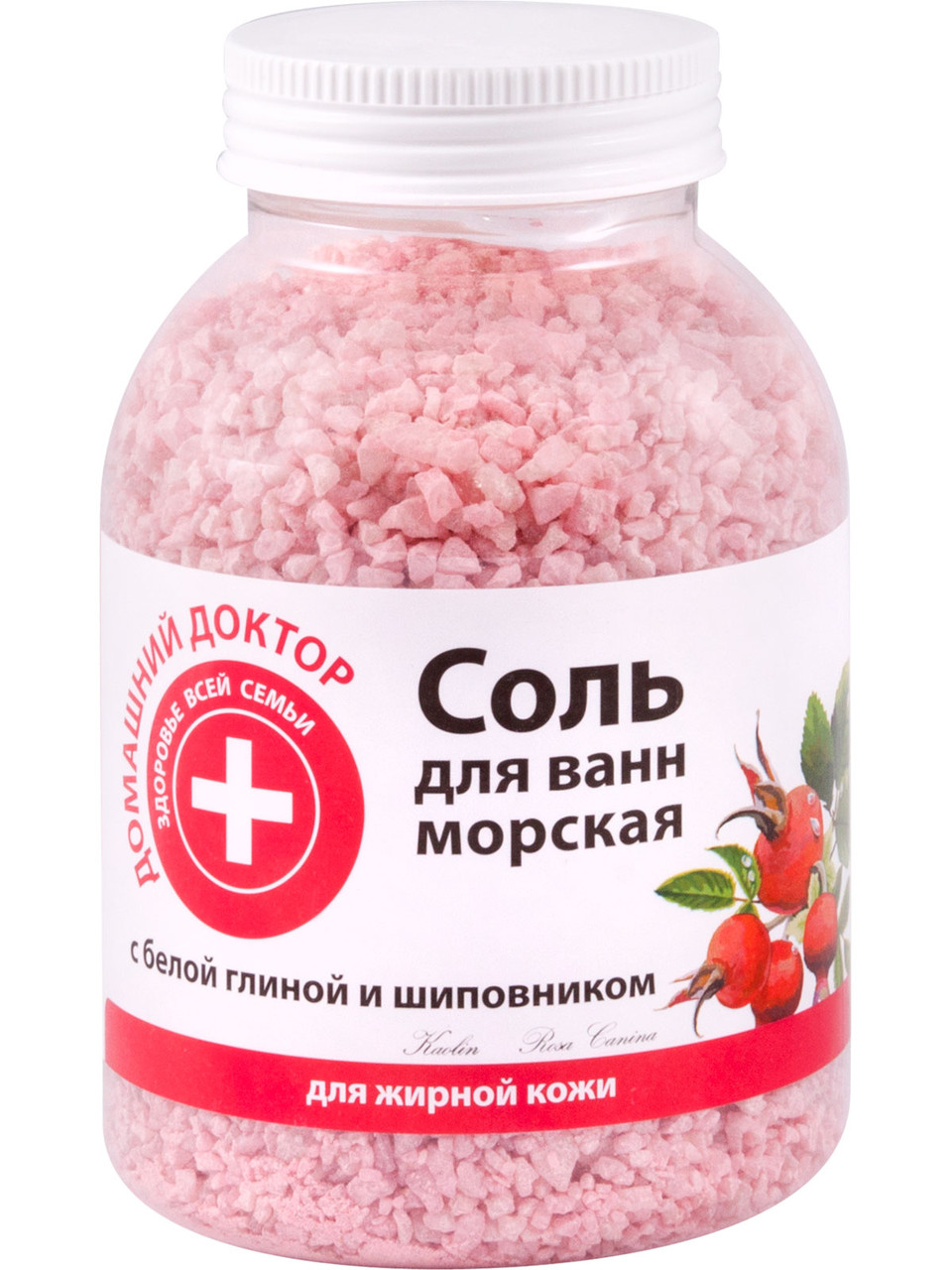 """Соль для ванн с белой глиной и шиповником ТМ""""Домашний Доктор"""", 1000 г."""