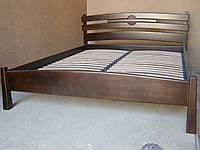 Кровать двуспальная из натурального дерева Токио
