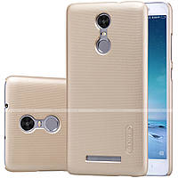 Чехол Nillkin Super Frosted Shield для Xiaomi Redmi Note 3 Gold + пленка