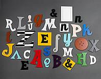 Английский алфавит Буквы для декора