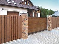 Ворота откатные ADS 400 с внутренним сплошным заполнением алюминиевым профилем 37мм и/или82мм