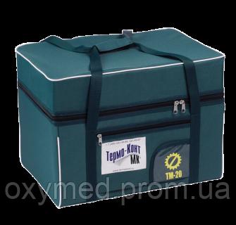 Термоконтейнер многоразовый медицинский ТМ-20 «Термо-Конт МК»  с 4-мя хладагентами в сумке-чехле - ОКСИМЕД-стимул к здоровому образу жизни в Киеве