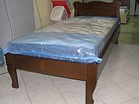 Кровать односпальная из натурального дерева Афина 0,8м х1,9м