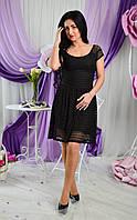 Модное женское платье черного цвета