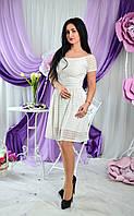 Нежное платье из гипюра