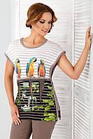 Женская летняя блуза с принтом. Модель Irmina Top-Bis, коллекция весна-лето 2016.