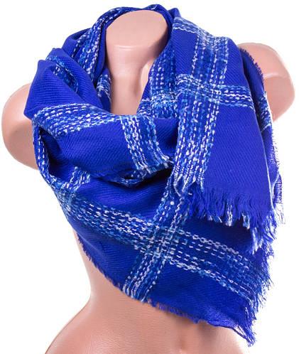 Теплый женский шерстяной шарф 190 на 70 см ETERNO (ЭТЭРНО) ES1405-8-5, синий