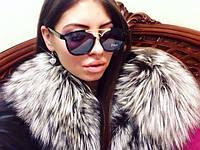 Стильные женские солнцезащитные очки в черной оправе g-4316107