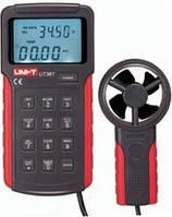 Измеритель скорости и температуры воздушного потока, термоанемометр UT361