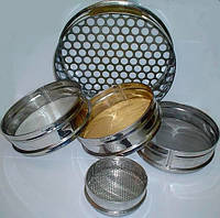 Сито СЛ-200-1,0мм, Н:50мм, металлопробивное, нерж./поверка