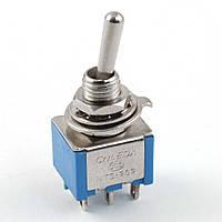 Переключатель тумблер 2-х позиционный ВКЛ-ВКЛ 6 контактов 6-Pin DPDT ON-ON 6A 125V AC