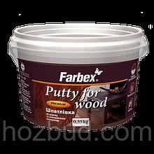Шпаклевка по дереву и минеральным поверхностям Farbex, 0.35 кг (белая)