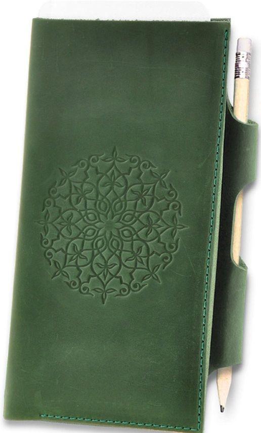 Кожаный красивый картхолдер BlankNote BN-TK-3-iz-man изумруд