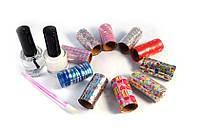 Набор для дизайна ногтей дома Fab Foil, маникюрный набор fab foils, набор для украшения ногтей