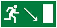"""Знак """"Направление к эвакуационному выходу(по наклонной плоскости направо вниз)"""""""