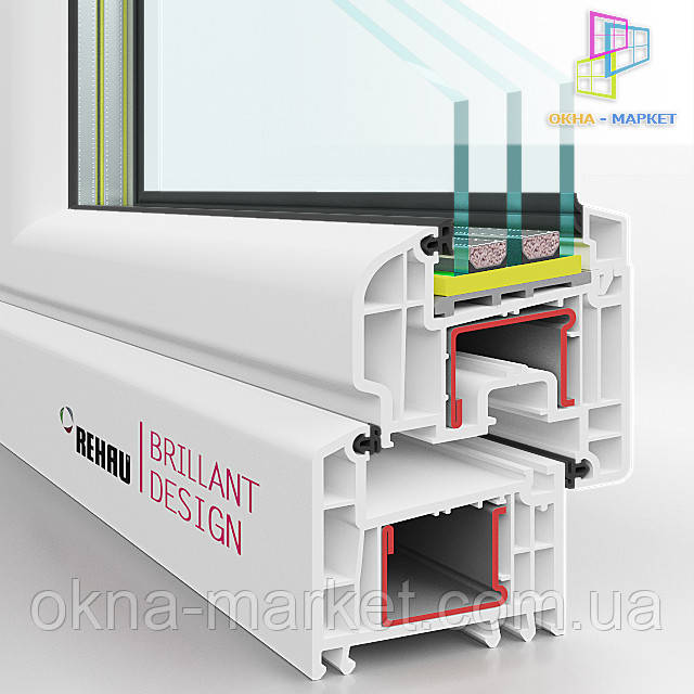Окна Rehau Brillant - ПВХ системы класса люкс