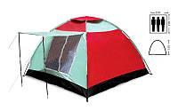 Палатка 3-х местная SY-019 (р-р 2,0х2,0х1,35м, PL)