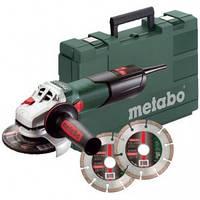Metabo W 9-125 Quick Шлифовальная машина  +2хPromo Алмазные отрезные диски 125 мм+кейс