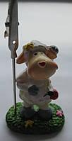 Подставка\держатель, статуэтка Овечка высота 5,5 см. основа  4,00 см. Подставка под фото или записки