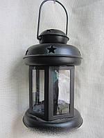 Фонарик для свечи чёрный