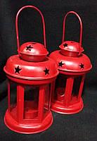 Фонарик для свечи красный