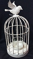 Клетка-подсвечник с птичкой