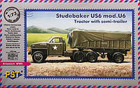 ' Cтудебеккер' US6 mod.U6  тягач с полуприцепом    1\72     PST 72062