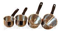 """Кофейный набор """"Set 4 Coffee Pots"""", 4 турочки в наборе, классический набор для приготовления кофе"""