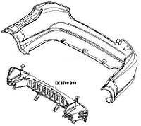 Усилитель переднего бампера Chevrolet Aveo 06 -