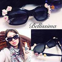 Женские стильные солнцезащитные очки с цветами на оправе m-4316122