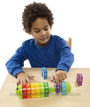 Деревянная игрушка Melissa&Doug Деревянная гусеница Счеты, фото 3