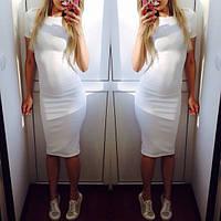 Женское белое платье миди