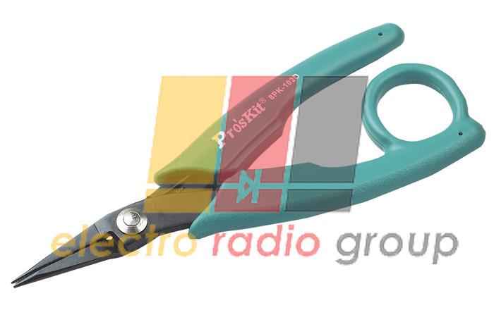 Довгогубці Pro'sKit  8PK-102D, прямі, 145 мм, з кільцем для пальця
