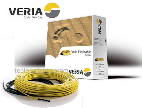 Тепла підлога - двожильний нагрівальний кабель VERIA Flexicable 20 – 2000 Вт (100 м), DEVI Данія, фото 2