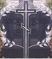 Гранитный памятник двойник Сердце с крестом