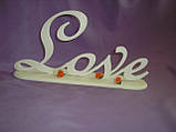 Слово Love (на подставке) заготовка для декора, фото 4