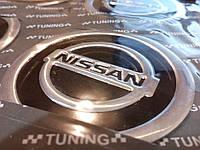 Наклейка на колесный диск колпак d 60 мм NISSAN ниссан черная (4шт)