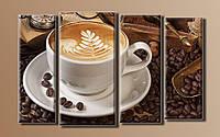 """Модульная картина на холсте """"Ароматный кофе"""""""