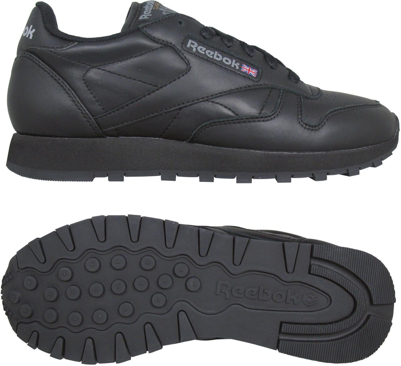 Кроссовки рибок CL leather (3912) черные